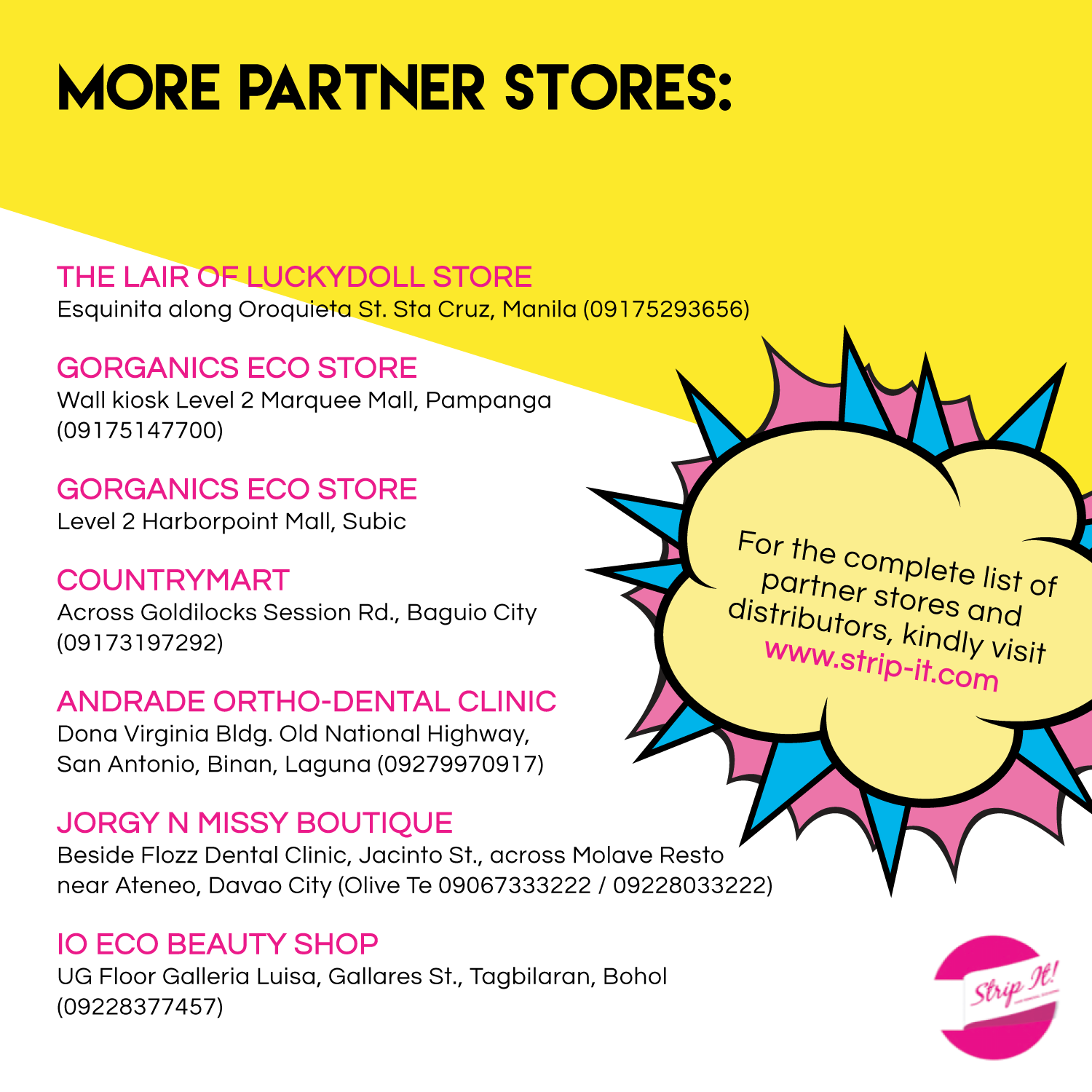 Partner Stores And Distributors